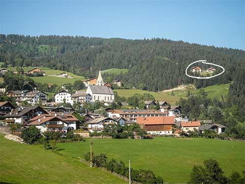 Lage des Gmosnhof in Mölten, Südtirol